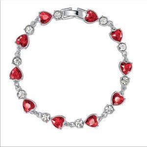 Avon Dazzling Heart Collection Tennis Bracelet